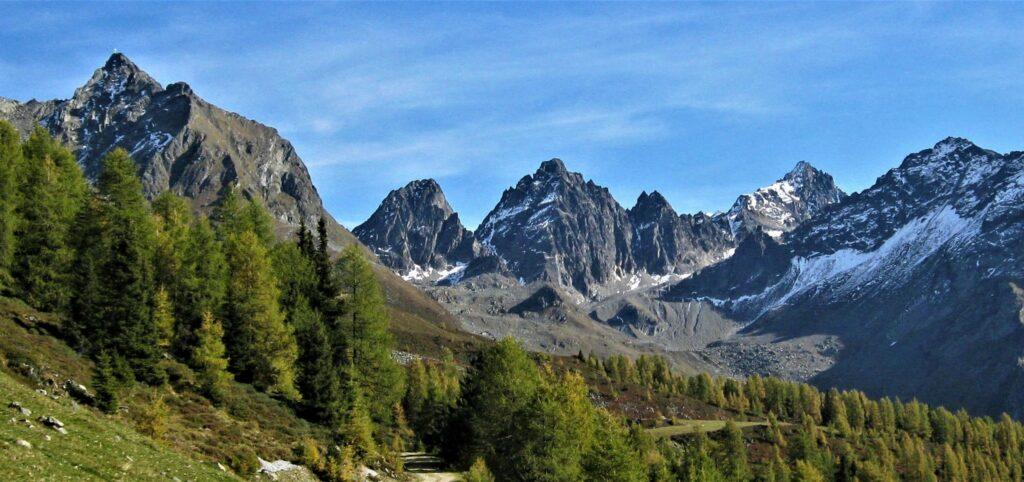 Tiroler Bergkette Kaunergrat