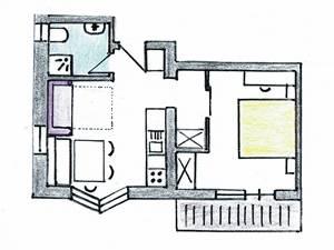 2 Personen Apartment